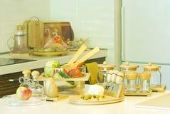 Zubereitung der Nahrung in der Küche Stockfotos