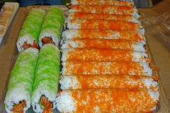 Zubereitung der Sushi Lizenzfreies Stockbild