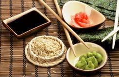 Zubereitung der Sushi Stockfotos