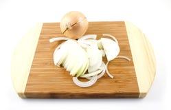 Zubereitung der Zwiebeln Lizenzfreies Stockfoto
