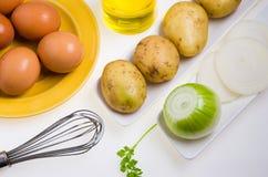 Zubereitung des Omeletts Lizenzfreies Stockfoto
