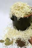 Zubereitung des Sauerkrauts Lizenzfreies Stockbild