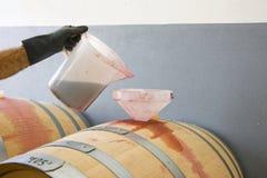 Zubereitung des Weins lizenzfreie stockfotos