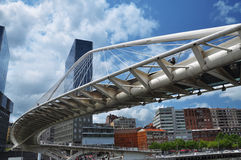Zubi Zuri bridge. Modern architecture in Bilbao Royalty Free Stock Photography