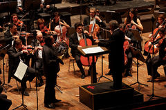 Zubin Mehta conducting Maggio Musicale Orchestra Royalty Free Stock Photography