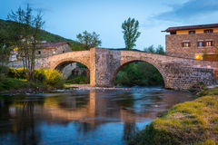 Zubiri, Puente de la Rabia, Espagne Photo libre de droits