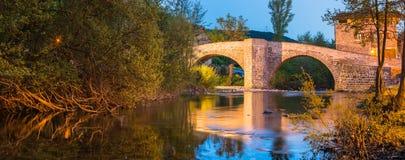 Zubiri, Puente de la Rabia, Espagne Images stock