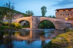 Zubiri, Puente de la Rabia, Espanha Foto de Stock Royalty Free