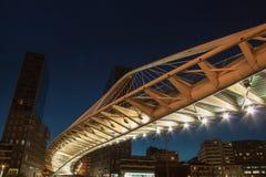 Zubizuri桥梁毕尔巴鄂 免版税库存照片