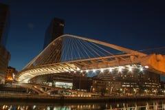 Zubizuri桥梁毕尔巴鄂 免版税图库摄影