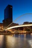 Zubizuri Brücke, Bilbao, Bizkaia, Spanien Lizenzfreies Stockbild