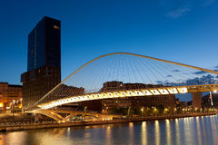 Zubizuri Brücke, Bilbao, Bizkaia, Spanien Stockfotografie