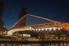 Zubizuri bridge Bilbao Royalty Free Stock Photography