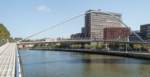 Zubizuri bridge in Bilbao Royalty Free Stock Photo