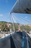 Zubizuri bridge in Bilbao Stock Photo