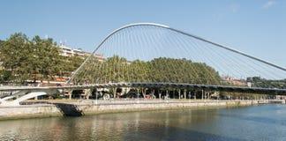 Zubizuri bridge in Bilbao Royalty Free Stock Photography