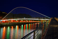 Zubizuri bridge, Euskadi, Spain Royalty Free Stock Photo