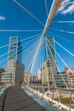 Zubizuri most w Bilbao basku Hiszpania Fotografia Royalty Free