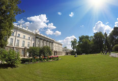 Zubov wing of the Big palace. Catherine Park. Pushkin (Tsarskoye Selo). Petersburg Stock Photo