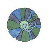 Zucca in acquerello Fotografia Stock