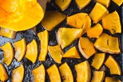 Zucca al forno casalinga fotografia stock