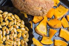 Zucca al forno casalinga immagini stock libere da diritti