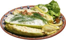 Zucca al forno con formaggio Fotografia Stock Libera da Diritti