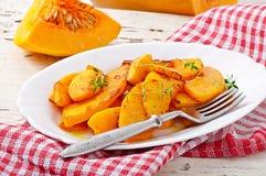 Zucca al forno con timo Fotografie Stock