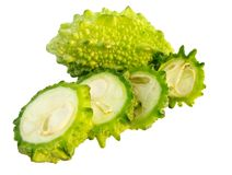 Zucca amara (charantia del Momordica) Immagini Stock