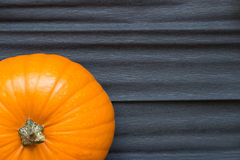 Zucca arancio su un fondo scuro Fotografia Stock