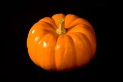 Zucca arancione di Halloween non tagliata Immagini Stock Libere da Diritti