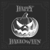 Zucca BG scura attingente capa di Jack per Halloween Fotografia Stock