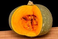 Zucca con carne arancio Immagine Stock