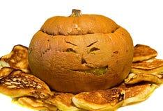 Zucca cucinata di Halloween Fotografia Stock Libera da Diritti
