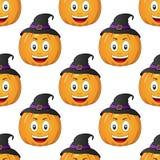 Zucca del fumetto di Halloween senza cuciture Fotografia Stock Libera da Diritti