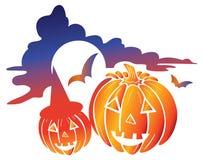 Zucca del Halloween illustrazione di stock