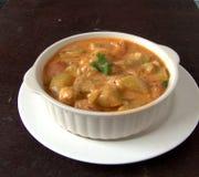 Zucca del pellegrino kashmiri e curry della mela Immagini Stock Libere da Diritti