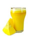 Zucca del succo con le fette Fotografia Stock
