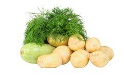 Zucca dell'aneto delle patate Fotografia Stock