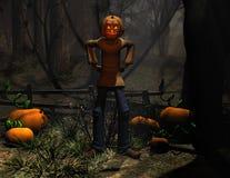 zucca dell'uomo di Halloween del carattere Immagine Stock Libera da Diritti