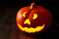 Zucca della lanterna della presa o di Halloween Fotografie Stock Libere da Diritti