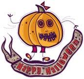 Zucca della ragazza, Halloween felice Fotografie Stock