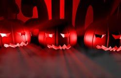 zucca della rappresentazione 3d per Halloween Fotografie Stock