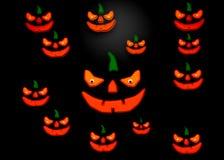 zucca della rappresentazione 3d per Halloween Fotografia Stock Libera da Diritti