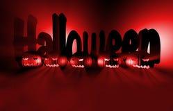 zucca della rappresentazione 3d per Halloween Immagine Stock Libera da Diritti