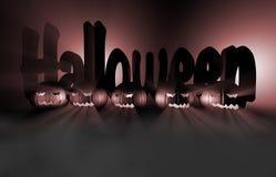 zucca della rappresentazione 3d per Halloween Immagini Stock