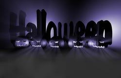 zucca della rappresentazione 3d per Halloween Immagini Stock Libere da Diritti
