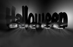 zucca della rappresentazione 3d per Halloween Fotografia Stock