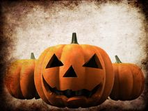 Zucca di Grunge Halloween Immagine Stock