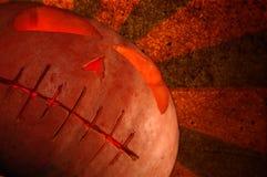 Zucca di Grunge Halloween Immagini Stock Libere da Diritti
